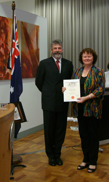 2009 Jennifer Phillips became an Australian citizen