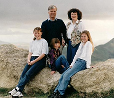 Phillips family photo taken by the New Zealand photographer, Dave Evans of Havelock North, in 1997